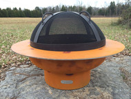 Fire Pit Art Saturn Outdoor Fire Pit with Lid
