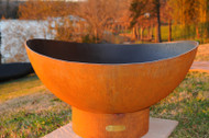 Fire Pit Art Scallop Fire Pit has a rich iron oxide patina