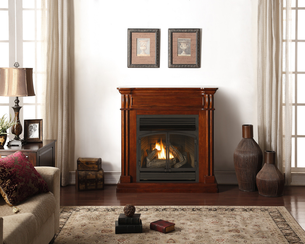 Duluth Forge Dual Fuel Ventless Gas Fireplace 32 000 Btu T Stat