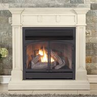 Duluth Forge Dual Fuel Vent Free Fireplace at 32,000 BTU with Remote Control, Antique White Finish