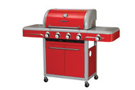 Bull BBQ 4 Burner Bel Air by Bull Candy Apple Red Cart Grill