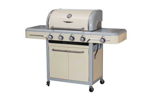 Bull BBQ 4 Burner Bel Air by Bull Vintage Cream Cart Grill