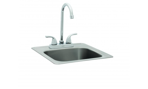 "Bull BBQ 19.25""L x 17""W x 8""D Large Sink and Faucet"