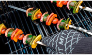 "Bull BBQ Signature Stainless Steel Skewers 3/8"" Wide / Set 6"