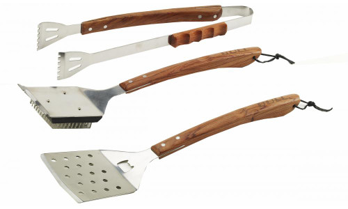 Bull BBQ Vineyard Rosewood 3PC BBQ Tool Set