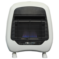 ProCom Select Liquid Propane Vent-Free Blue Flame Heater — 20,000 BTU, Model# ML200HBH