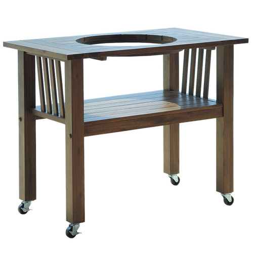 Duluth Forge Ceramic Charcoal Kamado Grill and Smoker Table