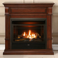 Duluth Forge Dual Fuel Ventless Gas Fireplace - 26,000 BTU, T-Stat Control, Auburn Cherry Finish (170131)