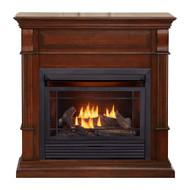 Duluth Forge Dual Fuel Ventless Gas Fireplace - 26,000 BTU, T-Stat Control, Auburn Cherry Finish (170131)