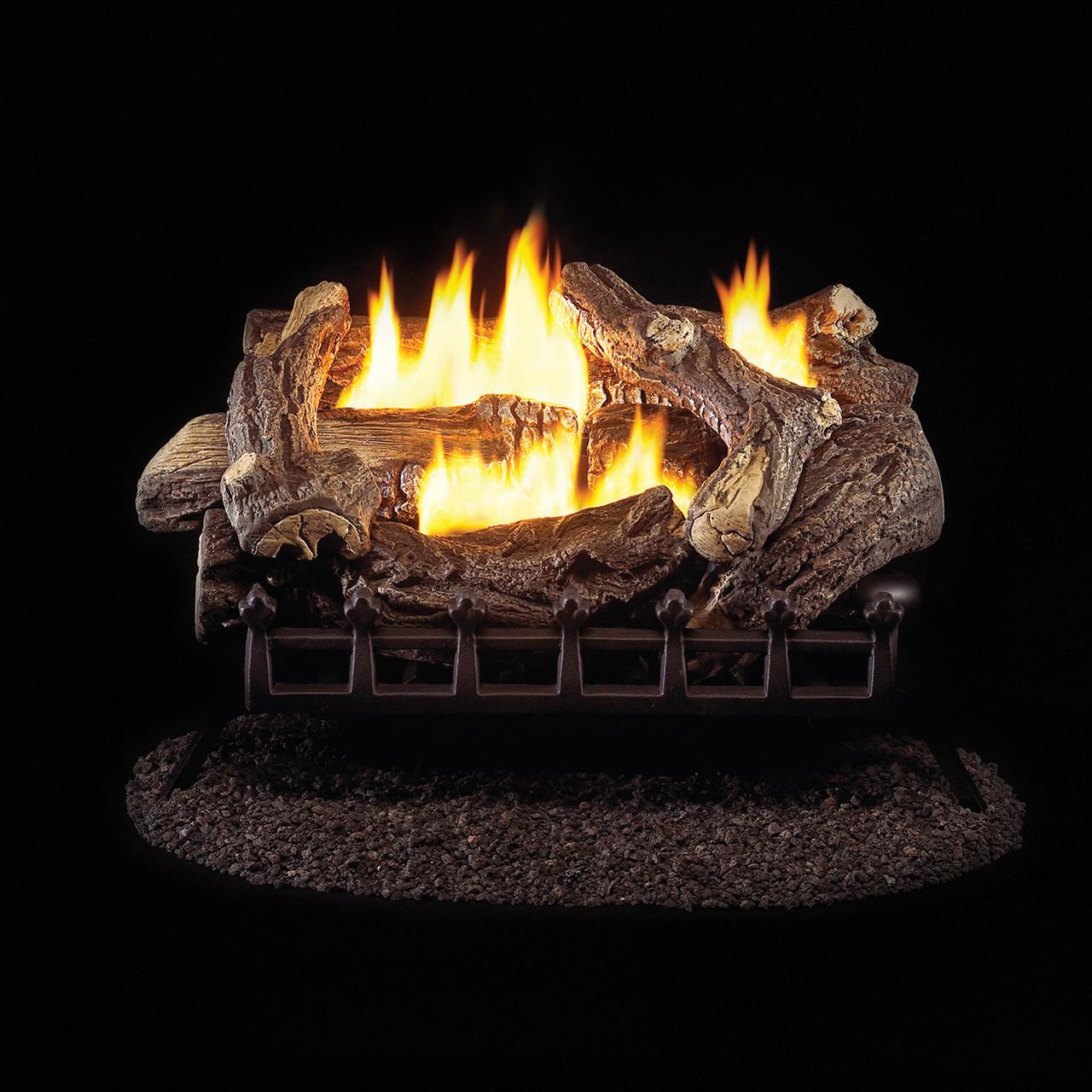 Procom Ventless Natural Gas Log Set 24in 34 000 Btu Millivolt Control Model Wzn24mva Factory Buys Direct