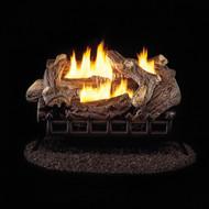 ProCom Ventless Natural Gas Log Set 24 Inch., 34,000 BTU, Millivolt Control