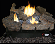 ProCom Select Dual Fuel Log Set — 18in., 30,000 BTU, Model# VF18DT-1