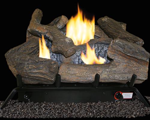 ProCom Select Dual Fuel Log Set — 18in., 30,000 BTU, Model# VF18DT-1
