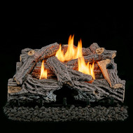 "Lost River Ventless Dual Fuel Gas Log Set - 24"" Split Bark, Remote Control - 32,000 BTU"