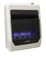 Lost River Dual Fuel Ventless Blue Flame Gas Space Heater - 20,000 BTU.