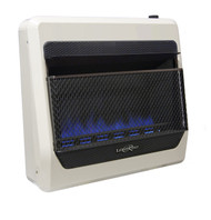 Lost River Dual Fuel Ventless Blue Flame Gas Space Heater - 30,000 BTU.