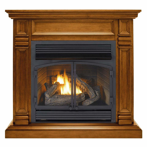 Duluth Forge Dual Fuel Ventless Gas Fireplace - 32,000 BTU, Remote Control.