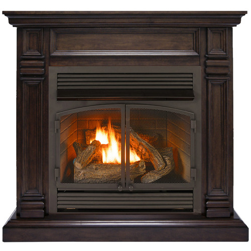 Duluth Forge Dual Fuel Ventless Fireplace - 32,000 BTU, Remote Control, Chocolate Finish (170158)  -Front