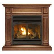 Duluth Forge Dual Fuel Ventless Fireplace - 32,000 BTU, T-Stat Control, Toasted Almond Finish