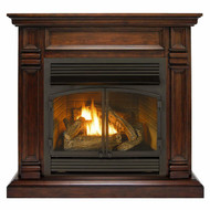 Duluth Forge Dual Fuel Ventless Fireplace - 32,000 BTU, Remote Control, Walnut Finish