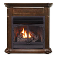 Duluth Forge Dual Fuel Ventless Fireplace - 32,000 BTU, T-Stat Control, Nutmeg Finish