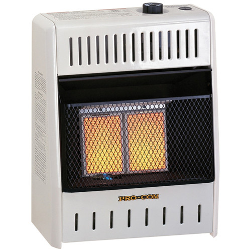 ProCom Dual Fuel Ventless Infrared Plaque Heater