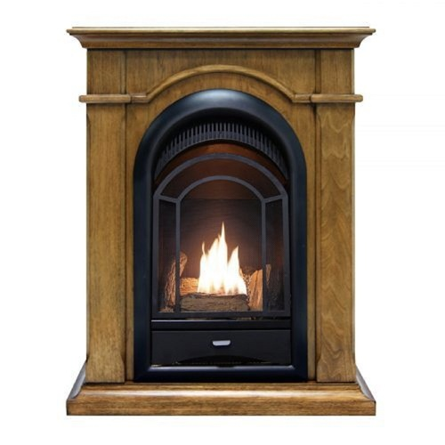 ProCom Ventless Gas Fireplace , Dual Fuel, Vent Free-, Mantel Included  15,000 BTU