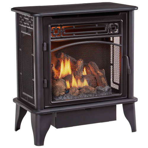 ProCom Gas Stove 3-Sided Black Dual Fuel with Remote Control - 23,000 BTU PCNSD25RTA (170177)
