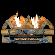 The ProCom Vent-Free Log Set is 99.9% efficient and requires no outside duct or chimney.