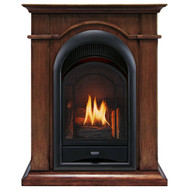 ProCom FS100T-TA Ventless Fireplace System 10K BTU Duel Fuel Thermostat Insert and Toasted Almond Mantel (170191)
