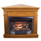 ProCom Dual Fuel Ventless Fireplace with Corner Conversion Kit - 23,000 BTU, Light Oak
