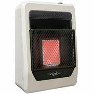Lost River Liquid Propane Gas Ventless Infrared Radiant Plaque Heater - 10,000 BTU, Model# LR1TIR-LP (110087)