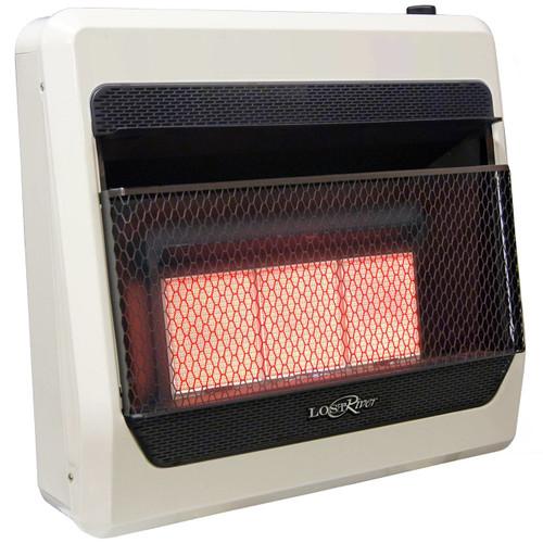 Lost River Natural Gas Ventless Infrared Radiant Plaque Heater - 30,000 BTU, Model# LR3TIR-NG (110092)