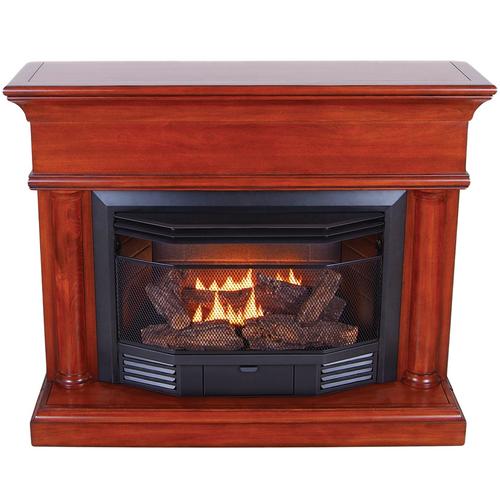 ProCom Dual Fuel Ventless Fireplace - 23,000 BTU, Heritage Cherry