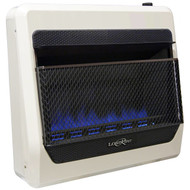 Lost River Liquid Propane Gas Ventless Blue Flame Gas Space Heater - 30,000 BTU, Model# LRT30B-LP (110097)