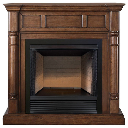 ProCom FBS32-500-2WN, 32in Ventless Firebox PC32VFC with CM500-2WN Walnut Mantel (170199)