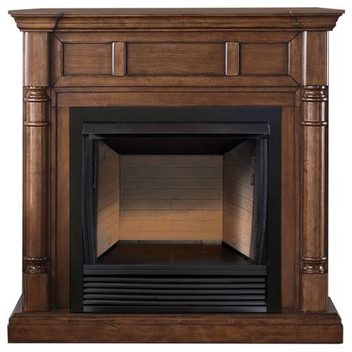 ProCom FBS32-500-2WN, 32in Ventless Firebox PC32VFC with CM500-2WN Walnut Mantel (170199)