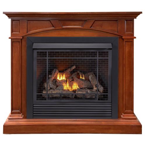 Duluth Forge FDI32R-M-HC Dual Fuel Ventless Gas Fireplace - 32,000 BTU, Remote Control, Heritage Cherry Finish (179202)