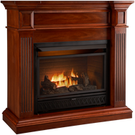 ProCom Select Dual Fuel Ventless Fireplace - 26,000 BTU, Heritage Cherry, Model# FBD28TCC-J-HC