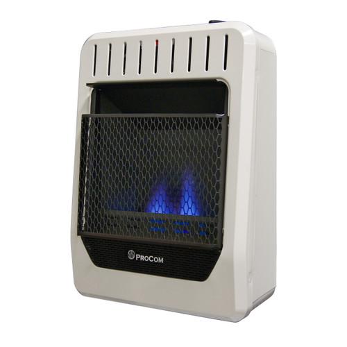 ProCom Dual Fuel Ventless Blue Flame Heater - 10,000 BTU, Model# MG10HBF (110122)
