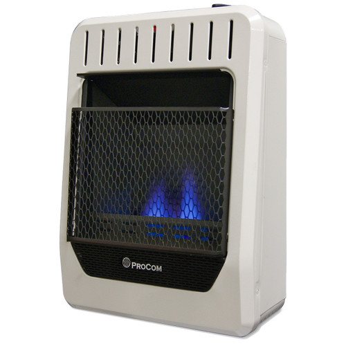 ProCom Ventless Dual Fuel Blue Flame Thermostat Control Wall Heater – 10,000 BTU, Model# MG10TBF