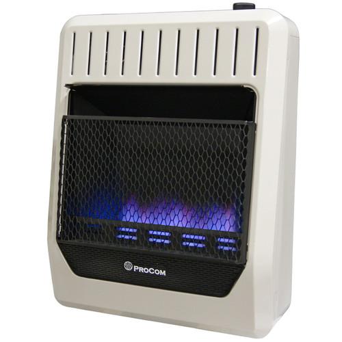 ProCom Ventless Dual Fuel Blue Flame Thermostat Control Wall Heater -20,000 BTU – 20,000 BTU, Model# MG20TBF (110124)