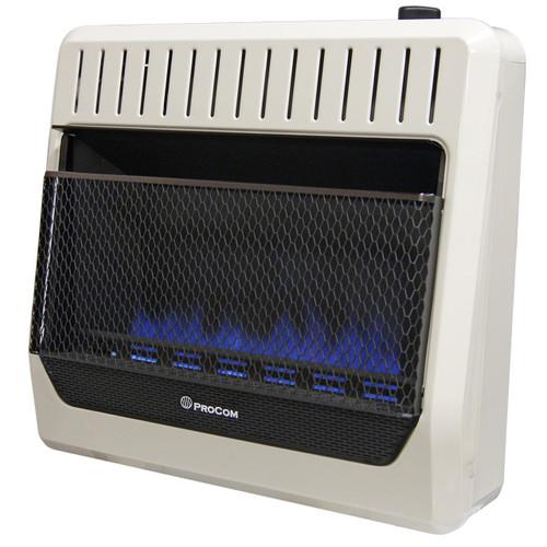 ProCom Ventless Dual Fuel Blue Flame Wall Heater Thermostat Control – 30,000 BTU, Model# MG30TBF (110126)