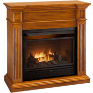 ProCom Select Dual Fuel Ventless Fireplace - 26,000 BTU, Medium Maple, Model# FBD28TCC-J-MM