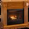 ProCom Select Dual Fuel Ventless Fireplace - 26,000 BTU, Medium Maple