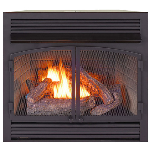 ProCom Heating Dual Fuel Ventless Fireplace Insert - 32,000 BTU, Thermostat Control, FBNSD400T-ZC (170115)