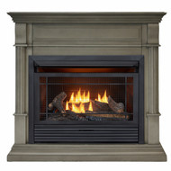 Duluth Forge Dual Fuel Ventless Gas Fireplace - 26,000 BTU, T-Stat Control, Slate Gray Finish, Model DFS-300T-2GR