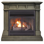 Duluth Forge Dual Fuel Ventless Gas Fireplace - 32,000 BTU, Remote Control, Slate Gray Finish, Model DFS-400R-2GR (179260)