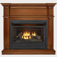 Duluth Forge Dual Fuel Ventless Gas Fireplace - 26,000 BTU, Remote Control, Apple Spice Finish, Model DFS-300R-3AS (179256) - Front