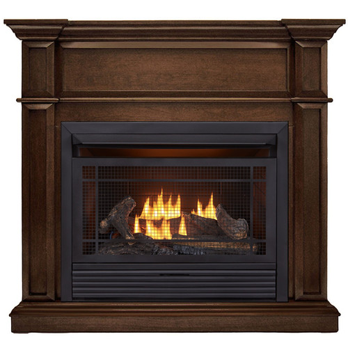 Duluth Forge Dual Fuel Ventless Gas Fireplace - 26,000 BTU, Remote Control, Gingerbread Finish, Model DFS-300R-3G (179207) - Front